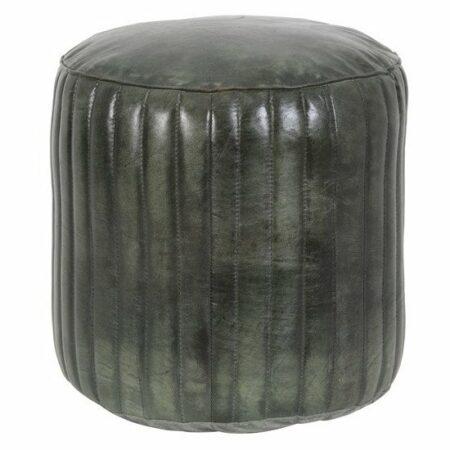 Sitzpouf LUKO, Hocker aus Leder in Grün von Light & Living