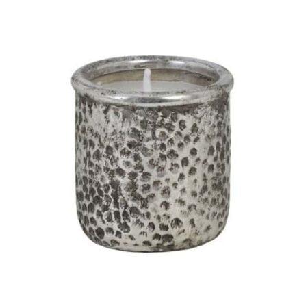 Light & Living Kerze CANEJA antik silber, Feinkeramik