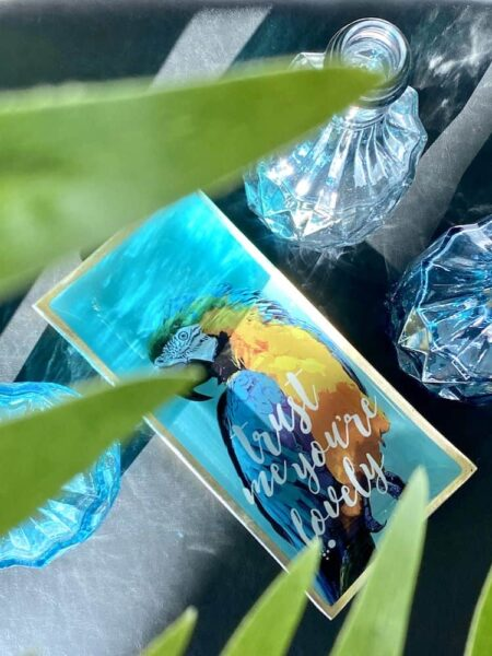 Glasteller PAPAGEI, Aufbewahrungsschale mit buntem Papagei von GiftCompany