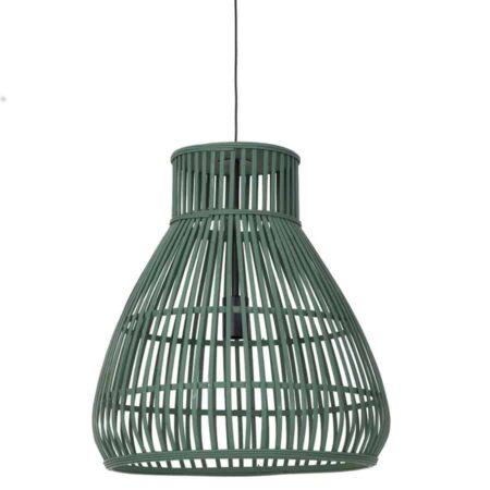 Hängeleuchte TIMAKA Grün Ø46X51 cm aus Rattan von Light & Living