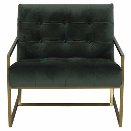 Light & Living Loungesessel GENEVE Olive Grün aus Samt