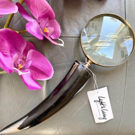 Lupe MAGNIFIER, dekorative besondere Lupe von Light & Living