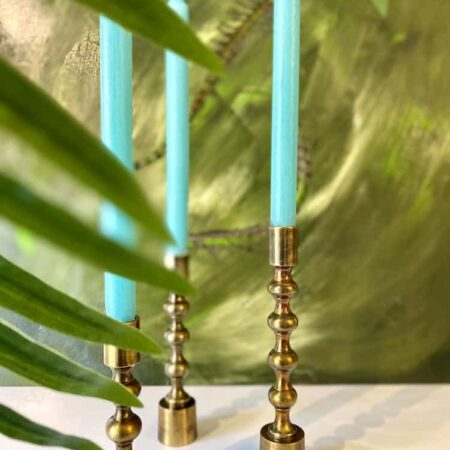 Trio Kerzenständer BABIMO, elegante Leuchter in bronze von Light & Living