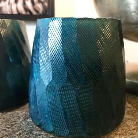 Vase AURELIO, traumhaft schönes Türkis mit besonderer Struktur