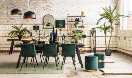 Esszimmer grün, schwarz und gold, Möbel & Wohnaccessoires