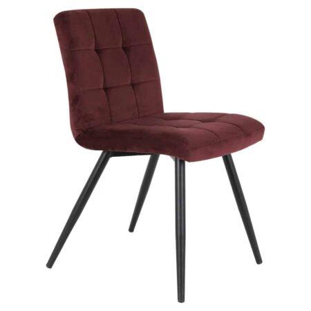 Esszimmerstuhl OLIVE Burgund Rot, Stuhl aus zartem Samt von der Marke Light & Living