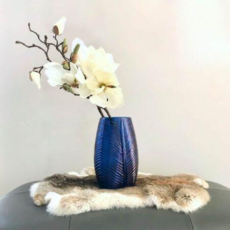 Vase CABRIL aus Glas in tiefem Blau von Light & Living