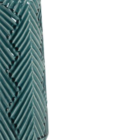 Vase ACASI Keramik, traumhauft schöne Vase in dunkel grün und grau mit besonderer Musterung und Struktur