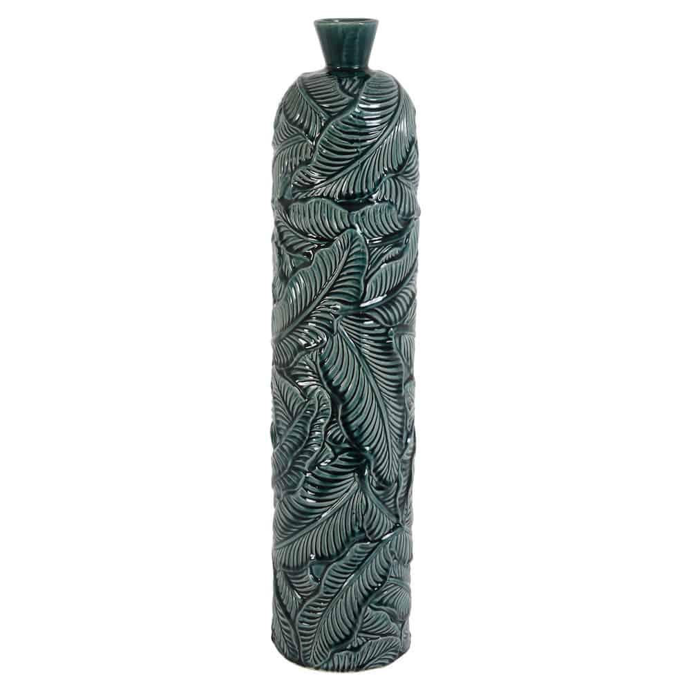 Vase Lavero Grün Blattmuster ø17x735 Cm Keramik Gutraum8