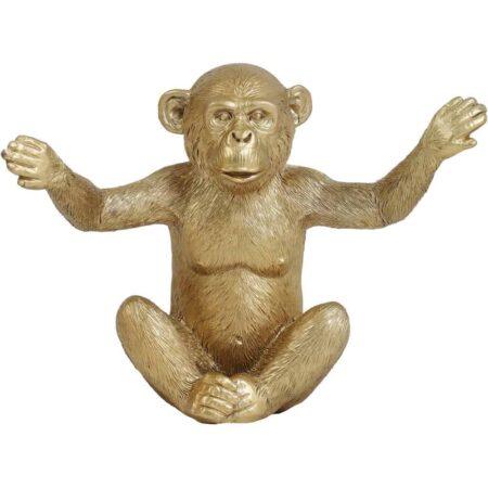 Skulptur AFFE gold, im 3er-Set - Tierfigur Monkey von Light & Living