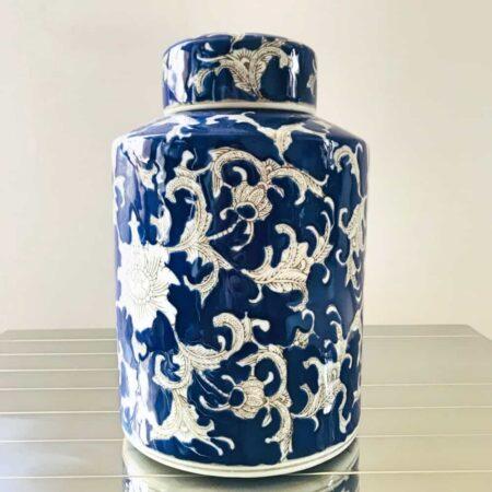 Keramikdose DEACON, Ø17x30 cm - von Van Roon Living
