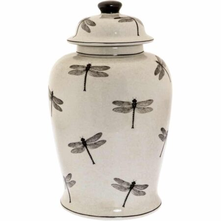 Keramikdose SKIPPER Keramik mit Deckel und Motiv Schmetterling von Van Roon Living