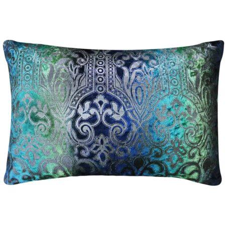 Kissen ARABESK Grün Multicolor, feinste Qualität - Zierkissen aus Leinen von Van Roon Living