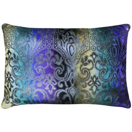 Kissen ARABESK Purple, feinste Qualität - Zierkissen aus Leinen von Van Roon Living