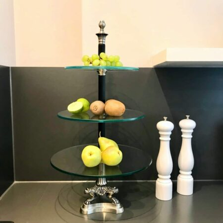 Etagere CLARIDGES , Luxus auf 3 Glas-Ebenen - Design Van Roon Living
