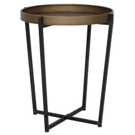 Beistelltisch TORTOLA Bronze, Gestell in schwarz, Tischplatte Bronze vom Hersteller Light & Living