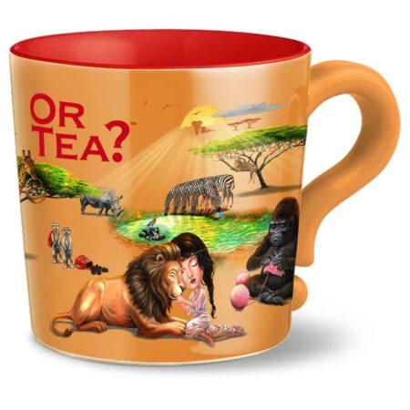 Teetasse mit Sieb und Deckel von OrTea? Safari Motiv