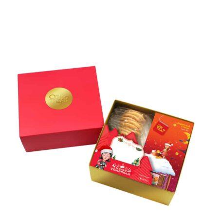 Gingerbread Orange Teebeutel Box + Kekse, OrTea? Geschenkbox zu Weihnachten, Mandel Kekse mit dem leckeren Gingerbread Orange Tee