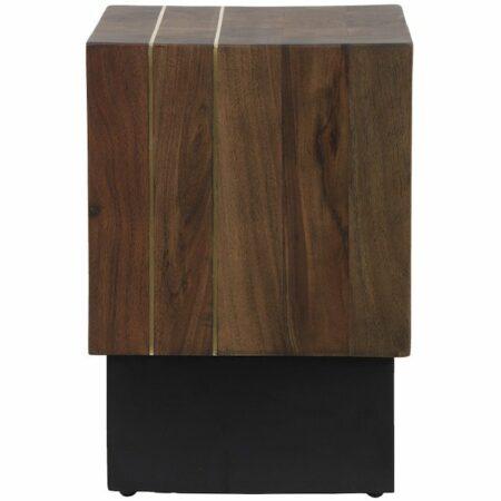 Beistelltisch MACUMA Holz, Extravaganter Tisch, massiv aus Holz von Light & Living