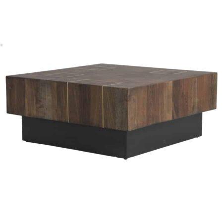Couchtisch MACUMA, Extravaganter Tisch, massiv aus Holz von Light & Living