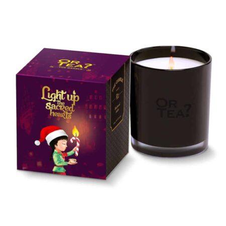 Duftkerze Blackwood Amber im schwarzen Glas, Geschenkidee zu Weihnachten