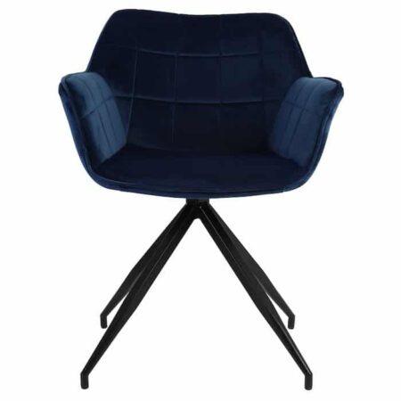 Esszimmerstuhl JAIMY Blau, extravaganter Armlehnstuhl von Light & Living