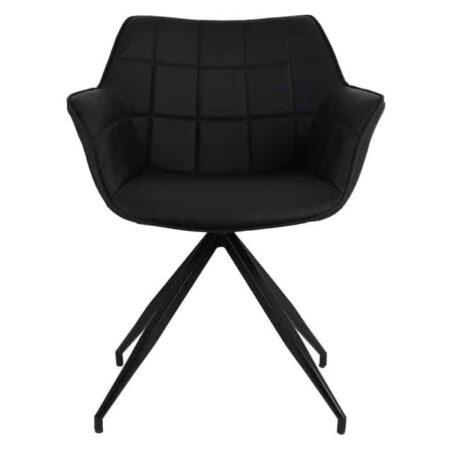 Esszimmerstuhl JAIMY schwarz, extravaganter Armlehnstuhl von Light & Living