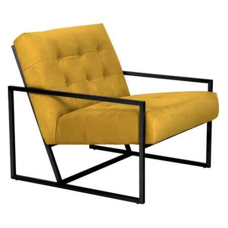 Light & Living Loungesessel GENEVE Gelb, Sessel aus Samt