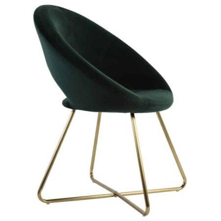 Stuhl CHARLIE Grün Samt, extravaganter Stuhl für den Wohnraum von Light & Living