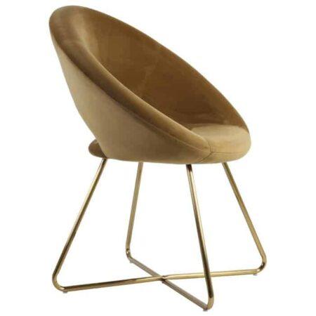 Stuhl CHARLIE Karamel, extravaganter Stuhl für den Wohnraum von Light & Living