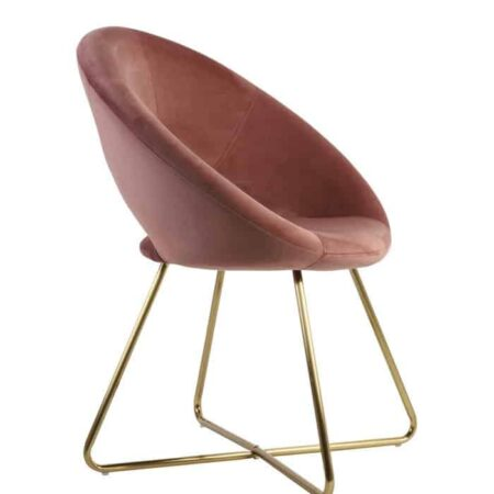 Stuhl CHARLIE alt Rosa Samt, extravaganter Stuhl für den Wohnraum von Light & Living