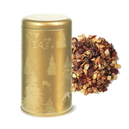 Goldener Apfelkuchen Tee zu Weihnachten, Weihnachtstee mit goldenem Glitzer von OrTea?