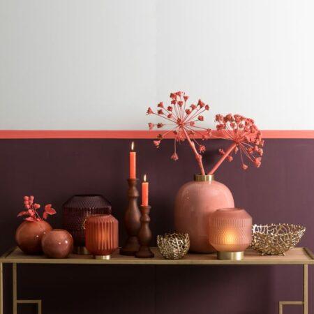 Dekoration in gold und rosa, Accessoires von Light & Living