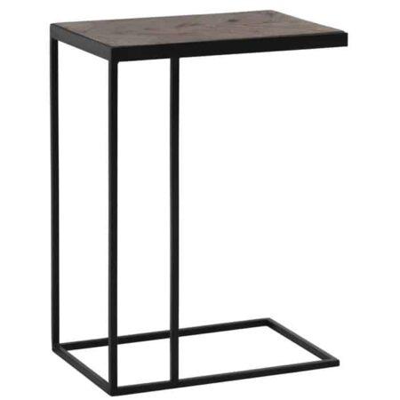 Beistelltisch CHISA braun, besonderer Tisch im untouched Stil von Light & Living