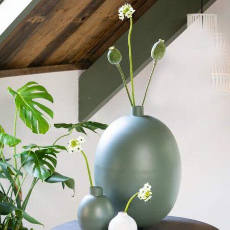 Dekoration Vase Accessoires in grün von Light & Living