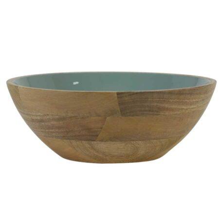 Dekoschale RANCO Schale aus Holz in grün Ø30x11 cm von Light & Living