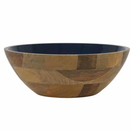 Dekoschale RANCOSchale aus Holz in Blau Ø30x11 cm von Light & Living