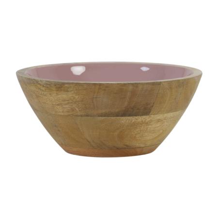 Dekoschale RANCO, Schale aus Holz in rosa Ø19x7 cm von Light & Living