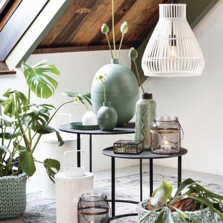 Inneneinrichtung grün und weiss, Möbel und Wohnaccessoires von Light & Living