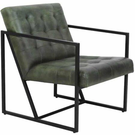 Loungesessel ITISO grün, Sessel aus Leder von Light & Living