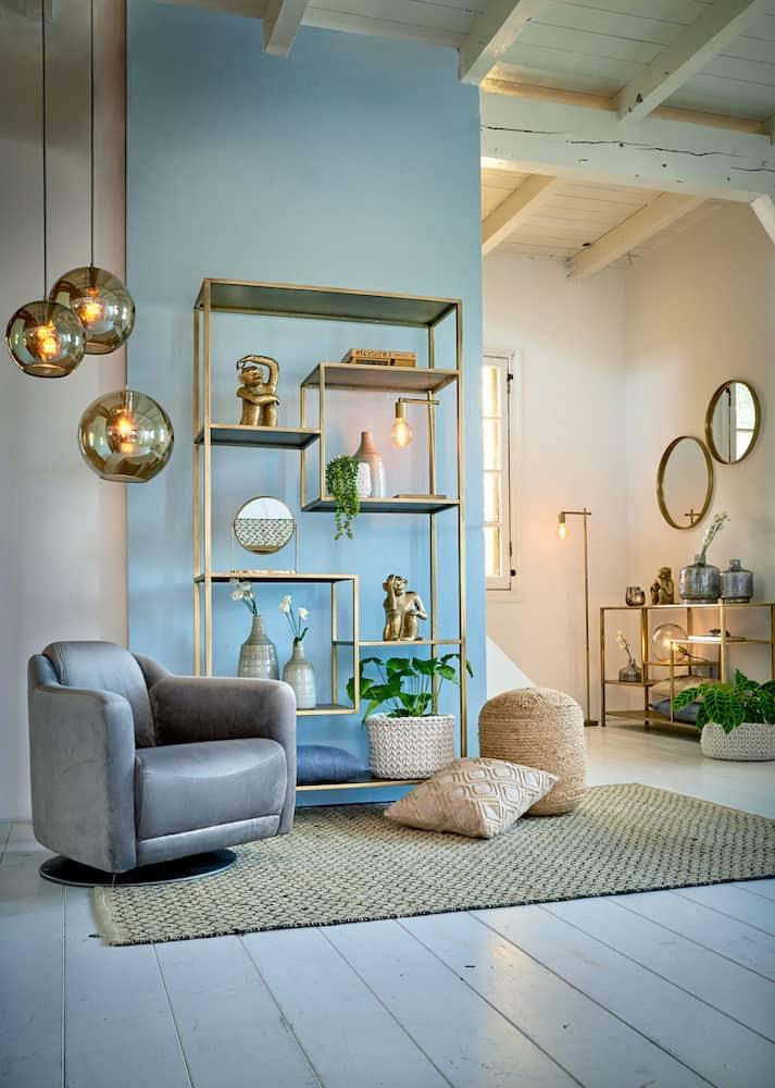 Inneneinrichtung Gold + Grau, Möbel und Accessoires von Light & Living