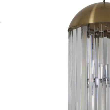 Pendelleuchte GRAYSON, Leuchte in bronze+ Glas klar von Light & Living