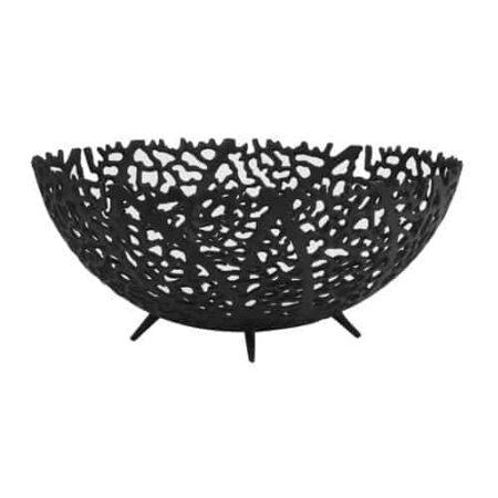 Schale GALAXA Ø35,5x14 cm in schwarz matt von Light & Living
