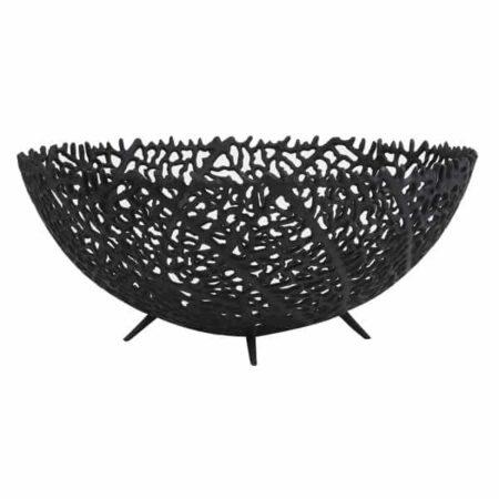 Schale GALAXA Ø46x18 cm in schwarz matt von Light & Living