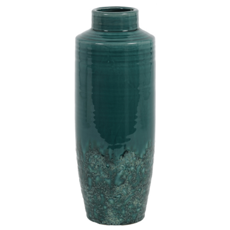 Vase SIERRA, grüne Keramik Vase von Light & Living