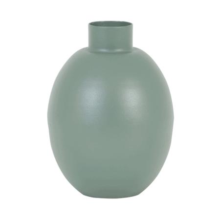 Vase BINCO, Dekoration aus Metall in Grün von Light & Living