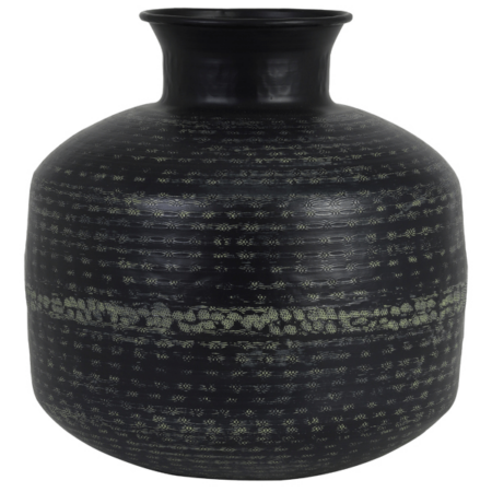 Vase ROLY , antik schwarz grün von Light & Living