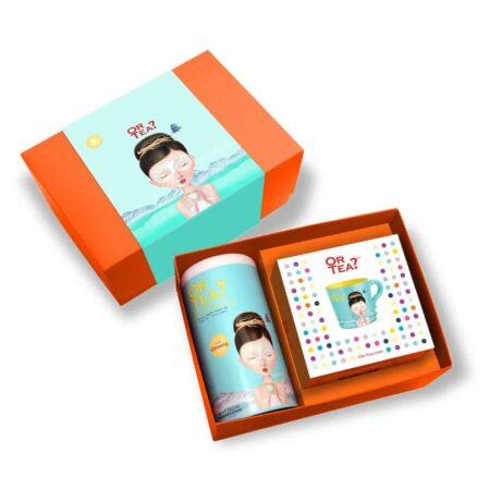 Geschenkbox Or Tea? Ginseng Beauty, Kräutertee mit Ginseng + praktische Teetasse mit Sieb & Deckel