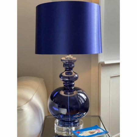 Tischleuchte MAISON blau, extravagante edle Tischlampe von Van Roon Living
