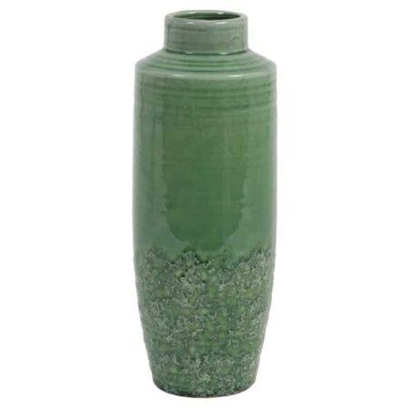 Vase SIERRA aus Feinkeramik, Dekoration in traumhaftem Meeresgrün